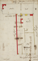 [Plan of property on Basinghall Street] 115L